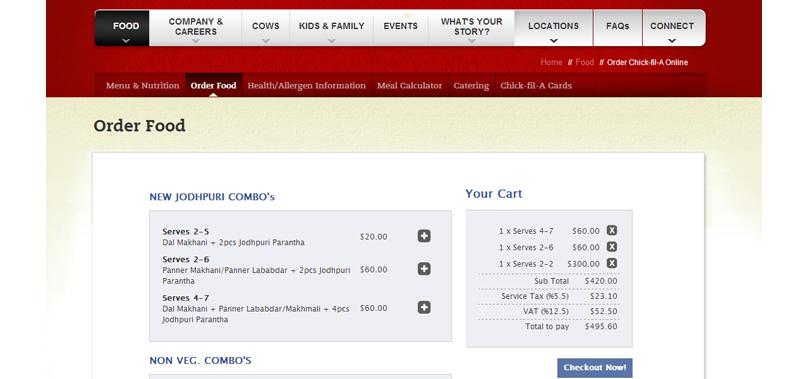 restaurant menu ordering system